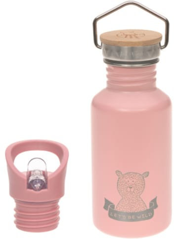 Lässig Edelstahl Isolier-Trinkflasche Adventure rose, 500 ml, inkl. 2 Verschlüssen