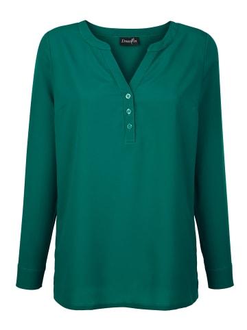Dress In Bluse in Smaragd