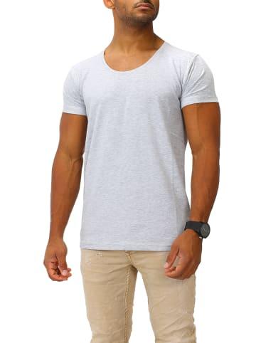 Joe Franks Joe Franks Joe Franks Herren Basic T-Shirts Round DEEP in grey melange