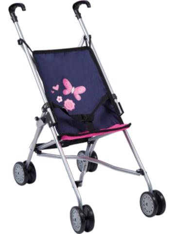 Bayer Design Puppenwagen Buggy blau/pink