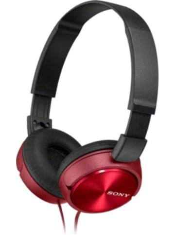 Sony MDRZX310AP, Leichte Kopfhörer mit Kopfbügel mit faltbarem Design in rot