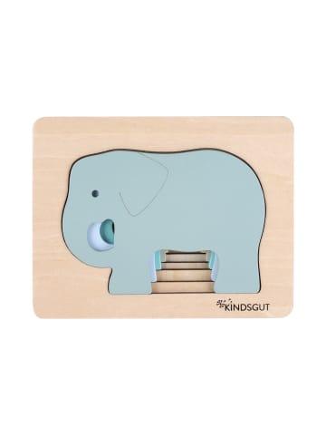Kindsgut  Tier-Puzzle aus Holz in Elefanten-Design