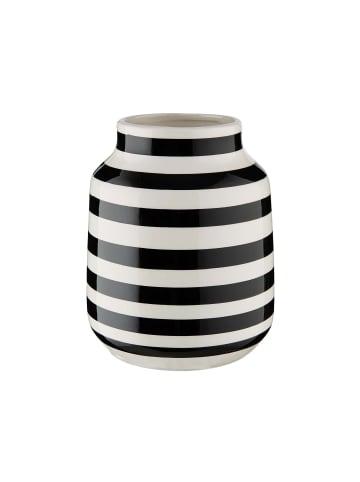 Butlers Vase gestreift Ø13,5cm MALIKA in schwarz und weiß