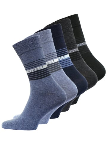 VCA® Socken STREET 10 Paar, Baumwolle/Elasthan in Schwarz/Grau/Blau