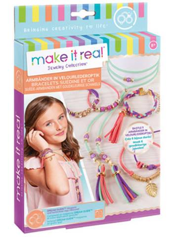 Make it real Armbänder in Velourlederoptik