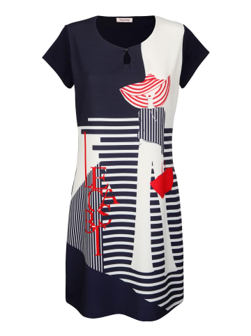 Alba Moda Kleid in Marineblau,Rot