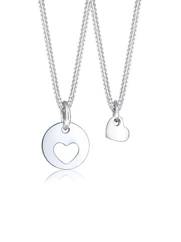 Elli Halskette 925 Rosegold Herz, Mutter und Kind in Silber