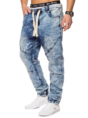 Urban Surface Jogging Denim Haremshose Baggy Pants in Hellblau-2