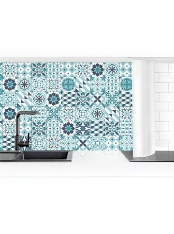 Bilderwelten  Küchenrückwand - Geometrischer Fliesenmix Türkis in Türkis