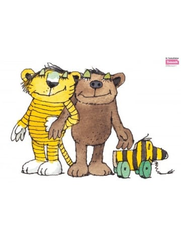 Beiwanda Wandsticker Tigerente Tiger und Bär