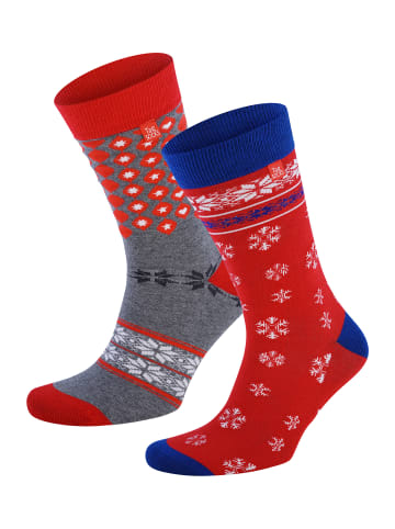 Tag Socks Unisex Socken Geschenkbox Merry Christmas in Rot