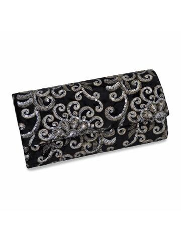 Steuer Modeschmuck Abendtasche in schwarz