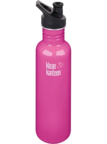 Klean Kanteen Edelstahl-Trinkflasche ® Classic Wild Orchid, 800 ml, Sport Cap