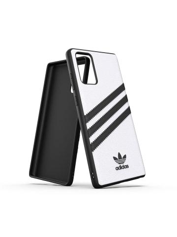 "Adidas Moulded Case ""Moulded Case PU white/black"" für Galaxy Note 20 in weiß"