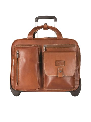 Jekyll & Hide Montana 2-Rollen Businesstrolley RFID Leder 42 cm Laptopfach in colt2