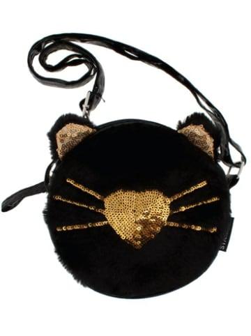 Starpak Plüsch-Handtasche Kitty schwarz