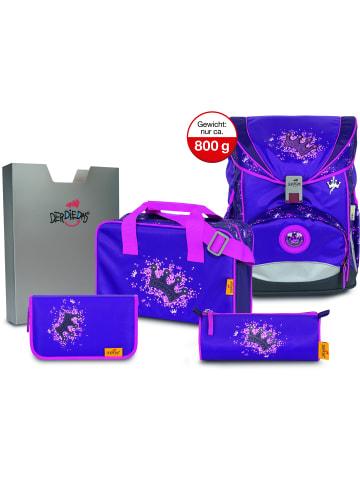 DerDieDas Ergo Flex Schulranzen-Set 5tlg. in purple princess