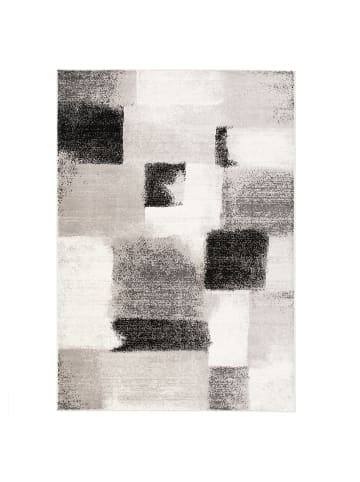 Pergamon Designer Teppich Tango Karo Grau Anthrazit Verlauf in Anthrazit