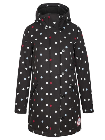 Pussy Deluxe Softshellmantel White Dots Softshell in schwarz