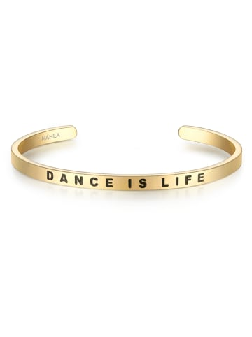 Nahla Jewels Armband DANCE IS LIFE Edelstahl in Gelbgold in gelbgold