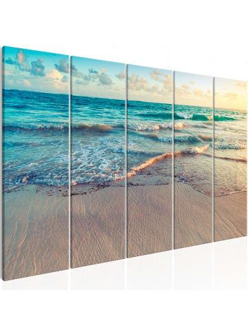 Artgeist Wandbild Beach in Punta Cana (5 Parts) Narrow in Blau,Beige