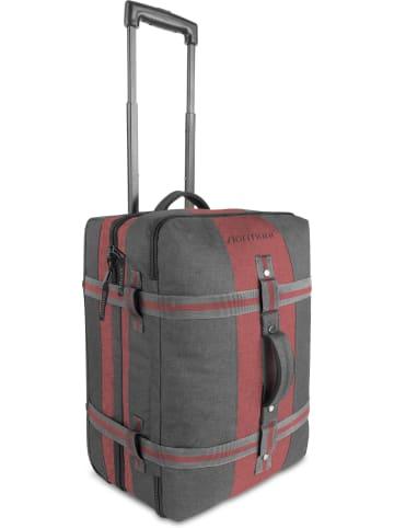 Normani Reisetasche mit Handgepäckmaß Aurori 45 in Dunkelgrau/Rot
