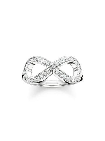 """Thomas Sabo Ring """"Infinity TR2014-051-14"""" in silber und weiß"""