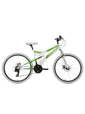 KS CYCLING Mountainbike Fully 26'' Topeka in weiß-grün