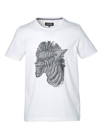 LOOKS by Wolfgang Joop T-Shirt Zebra-Print in Weiß