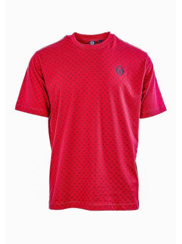 Sergio Tacchini Rundhalsshirt Din T-Shirt in appred/nav