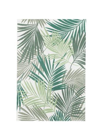 Pergamon In- und Outdoor Teppich Carpetto Blätter in Grün