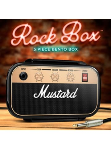 """Mustard 5-tlg. Lunchbox Set """"Rockstar"""" mit Besteck"""