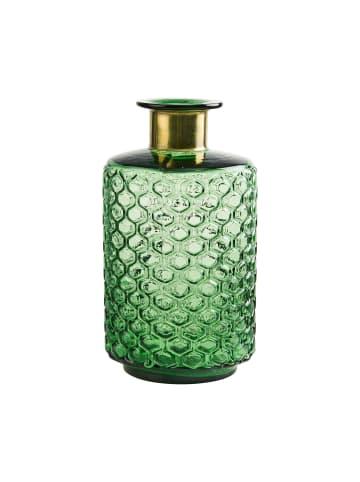 Butlers Vase 26 cm GRACE in grün und gold