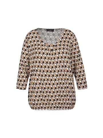 VIA APPIA DUE  Shirt in camel multicolor