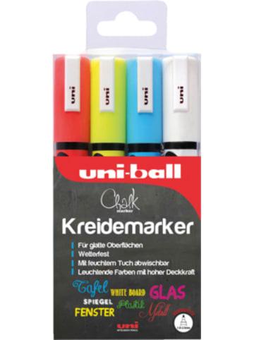 Uni-ball UNI Chalk Kreidemarker 1,8-2,5 mm, 4 Farben