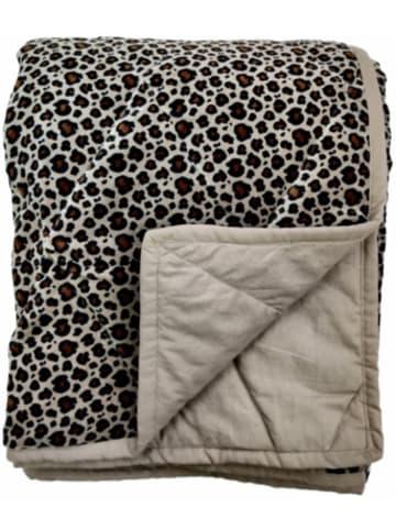 "Linen & More Wohndecke ""Leopard"" 130x170cm"