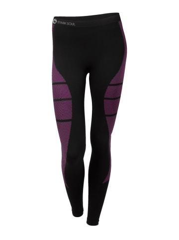 Stark Soul® Skiunterwäsche - Hose Funktionswäsche in schwarz-pink