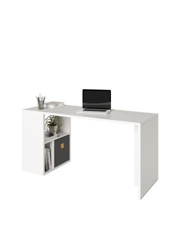Phoenix Group AG  Fortuna - SET, Regal mit 3 Fächern inkl. Schreibtischanbau, weiss, B/H/T: 75,1x57,9x34cm