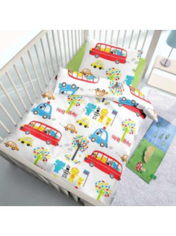 DOBNIG Kinderbettwäsche Bus, Renforcé, 100 x 135 cm