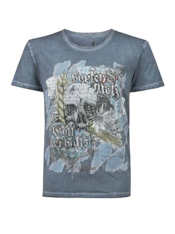 """Stockerpoint T-Shirt """"Bräu"""" in rauchblau"""