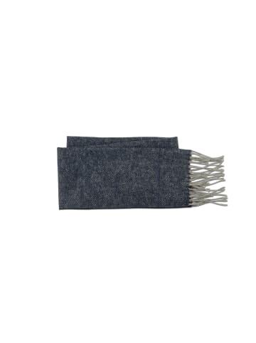 MJM Modeschal Fishbone in marineblau