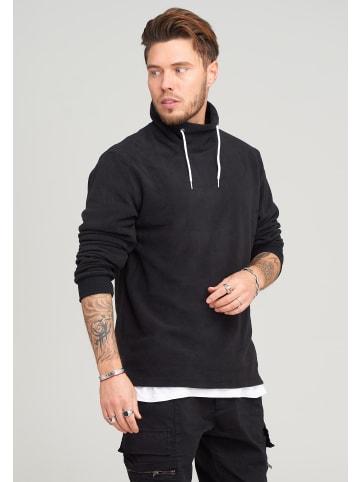 SOULSTAR Fleece-Pullover in schwarz