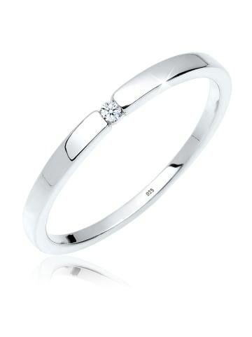 DIAMORE Ring 925 Sterling Silber Solitär-Ring, Verlobungsring in Weiß