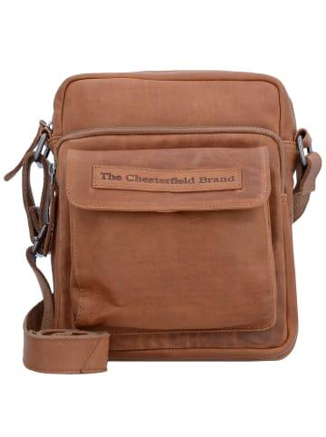 The Chesterfield Brand Wax Pull Up Bath Umhängetasche Leder 21 cm in cognac