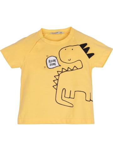 Mamino Kindermode Jungen T-Shirt -roar some in gelb