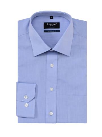 Bexleys man Businesshemd in blau