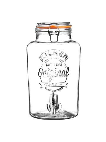 Kilner Getränkespender ROUND klein in transparent - 5 Liter