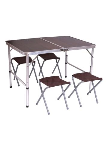 MCW Camping-Garnitur mit 1x Tisch und 4x Hocker, Standard