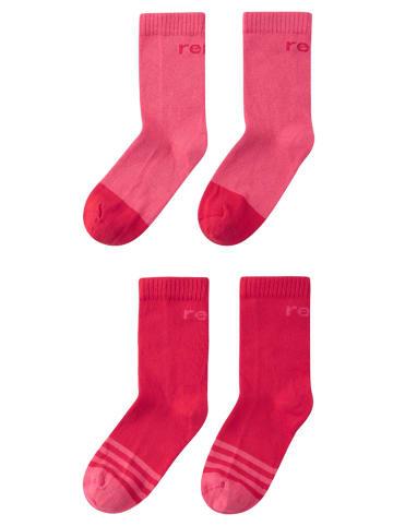 """Reima 2er Pack Socken """" Jalkaan """" in Azalea pink"""