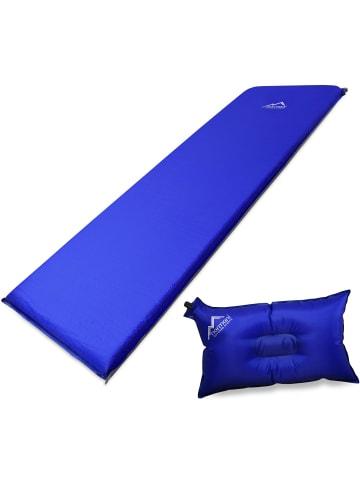 Normani Selbstaufblasbare Luftmatratze und Luftkissen in Blau